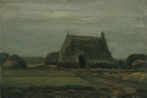 Art Prints of Farm with Stacks of Peat by Vincent Van Gogh