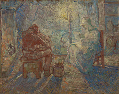Art Prints of Evening (after Millet) by Vincent Van Gogh