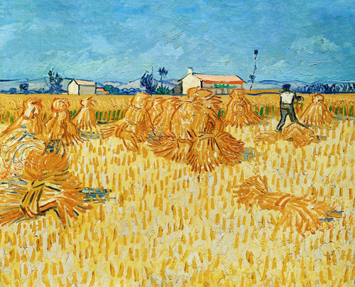 Art Prints of Harvest in Provence by Vincent Van Gogh