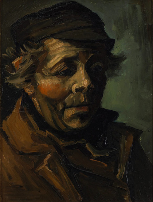 Art Prints of Head of a Peasant by Vincent Van Gogh