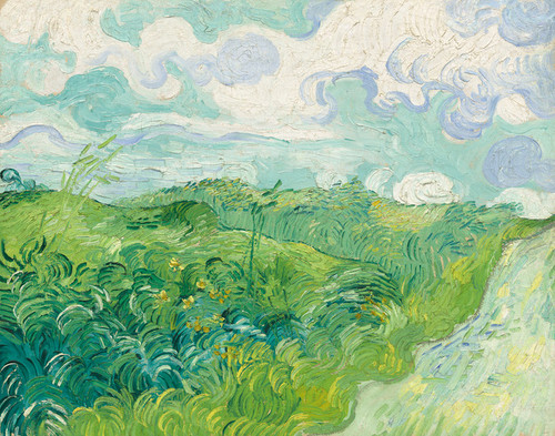Art Prints of Green Wheat Fields, Auvers by Vincent Van Gogh