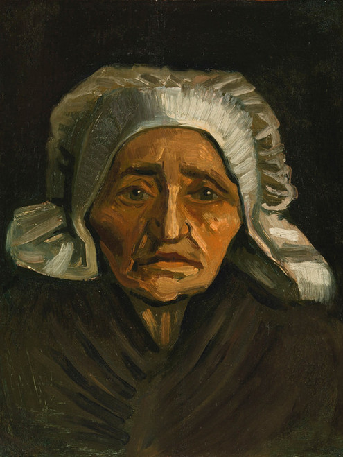 Art Prints of Head of an Old Peasant Woman with White Cap by Vincent Van Gogh