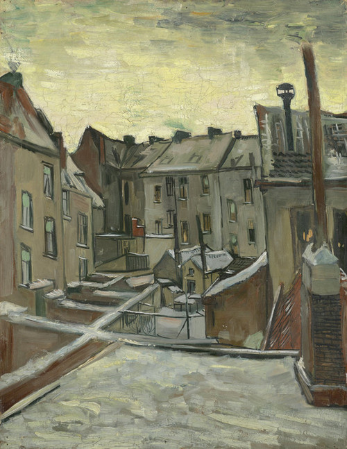 Art Prints of Houses Seen from the Back by Vincent Van Gogh