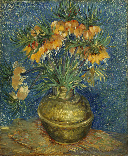 Art Prints of Imperial Fritillaries in a Copper Vase by Vincent Van Gogh