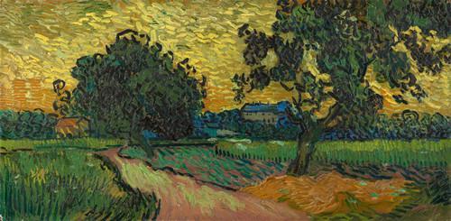 Art Prints of Landscape at Twilight by Vincent Van Gogh
