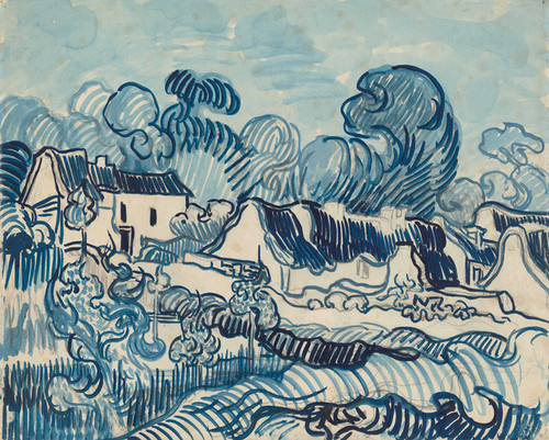 Art Prints of Landscape with Houses by Vincent Van Gogh
