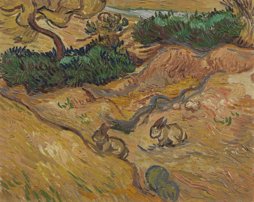 Art Prints of Landscape with Rabbits by Vincent Van Gogh