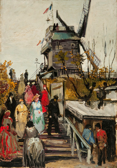 Art Prints of Le Moulin de Blute Fin, 1886 by Vincent Van Gogh