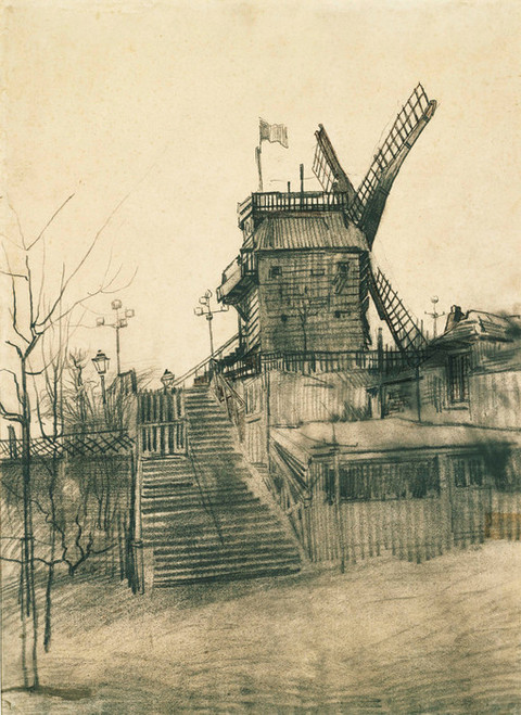 Art Prints of Moulin de la Galette by Vincent Van Gogh