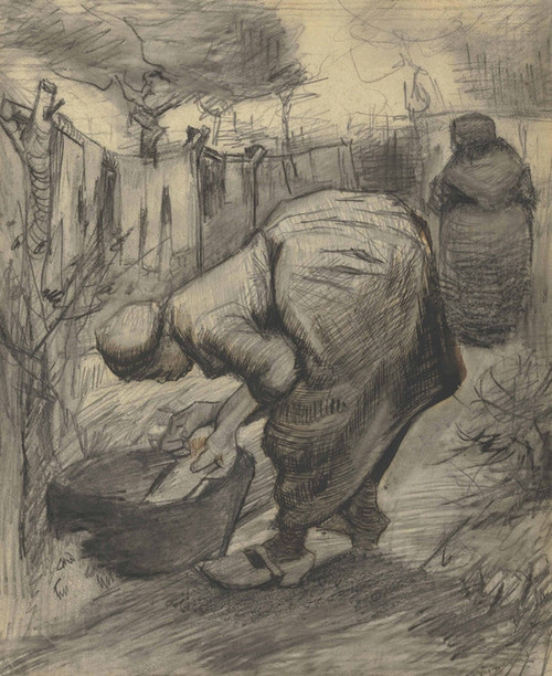 Art Prints of Woman at the Washtub by Vincent Van Gogh