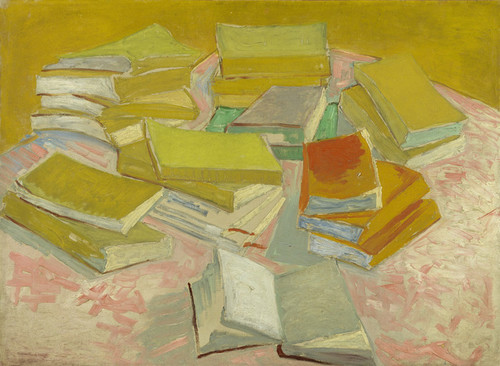 Art Prints of Piles of French Novels by Vincent Van Gogh