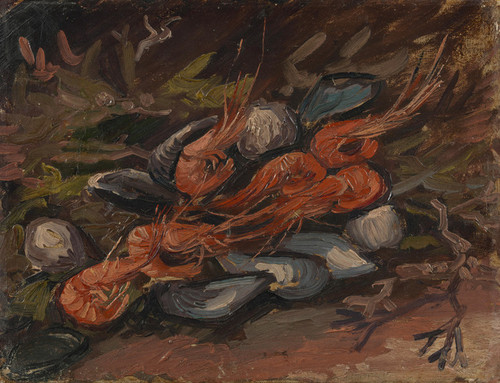 Art Prints of Prawns and Mussels by Vincent Van Gogh