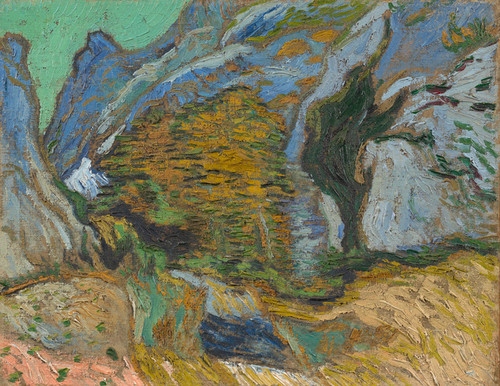 Art Prints of Ravine with Small Stream by Vincent Van Gogh