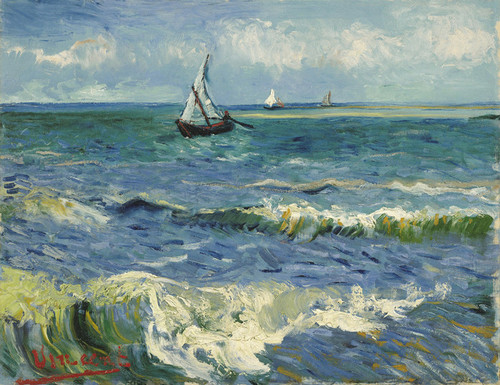 Art Prints of Seascape near Les Saintes Maries de la Mer by Vincent Van Gogh