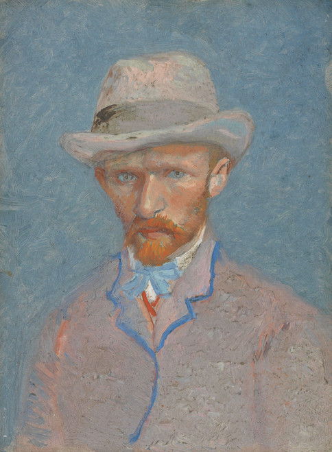 Art Prints of Self Portrait VIII, 1887 by Vincent Van Gogh