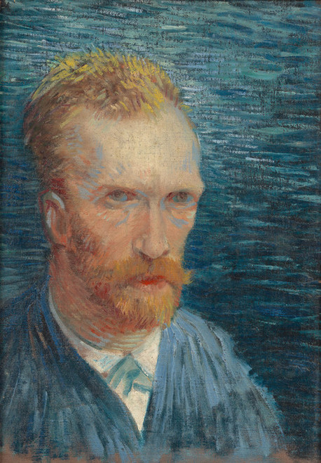 Art Prints of Self Portrait V, 1887 by Vincent Van Gogh