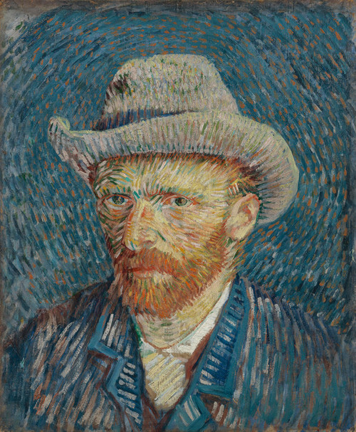 Art Prints of Self Portrait with Grey Felt Hat II by Vincent Van Gogh