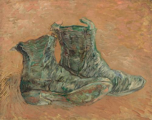 Art Prints of Shoes, 1887 by Vincent Van Gogh