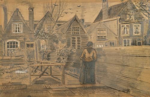 Art Prints of Sien's Mother's House, 1882 by Vincent Van Gogh