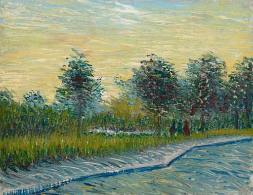 Art Prints of Square Saint Pierre at Sunset by Vincent Van Gogh