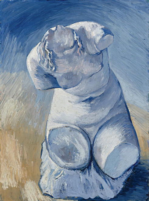 Art Prints of Statue of Plaster Chest of Woman, Front View by Vincent Van Gogh