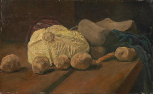 Art Prints of Still Life with Cabbage and Clogs by Vincent Van Gogh