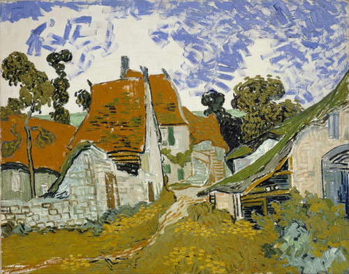 Art Prints of Street in Auvers Sur Oise by Vincent Van Gogh