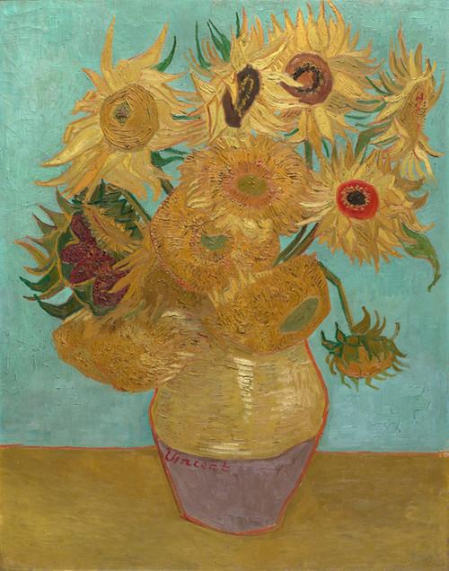 Art Prints of Sunflowers, 1889 by Vincent Van Gogh