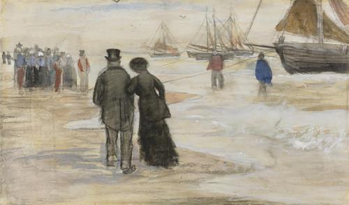 Art Prints of The Beach at Scheveningen by Vincent Van Gogh