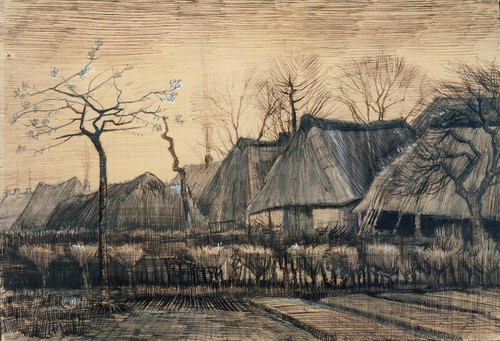 Art Prints of Thatched Roofs, 1884 by Vincent Van Gogh