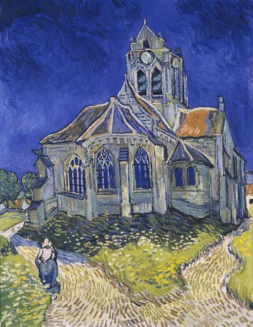 Art Prints of The Church in Auvers sur Oise by Vincent Van Gogh