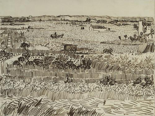 Art Prints of The Harvest (for Emile Bernard) by Vincent Van Gogh