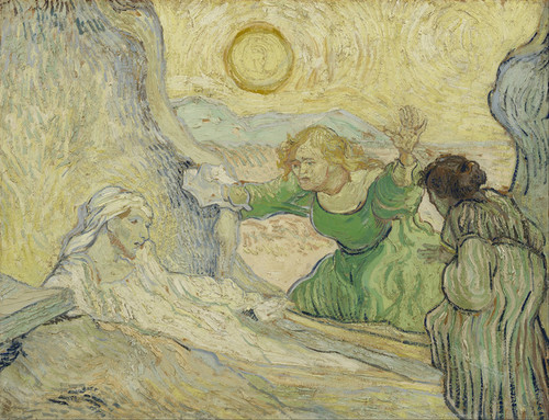 Art Prints of The Raising of Lazarus (after Rembrandt) by Vincent Van Gogh