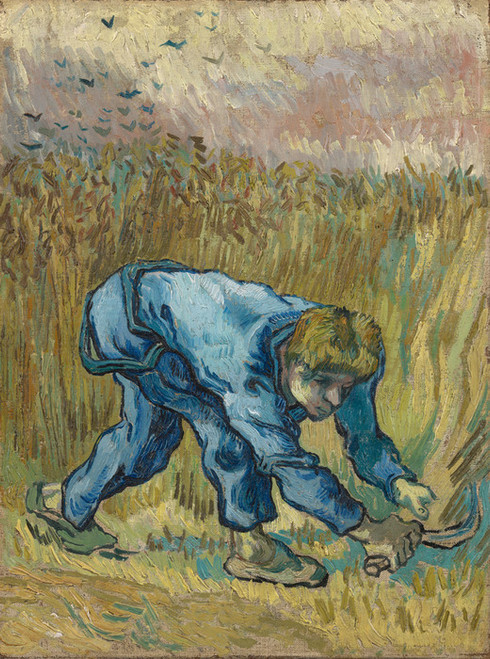 Art Prints of The Reaper (after Millet) by Vincent Van Gogh