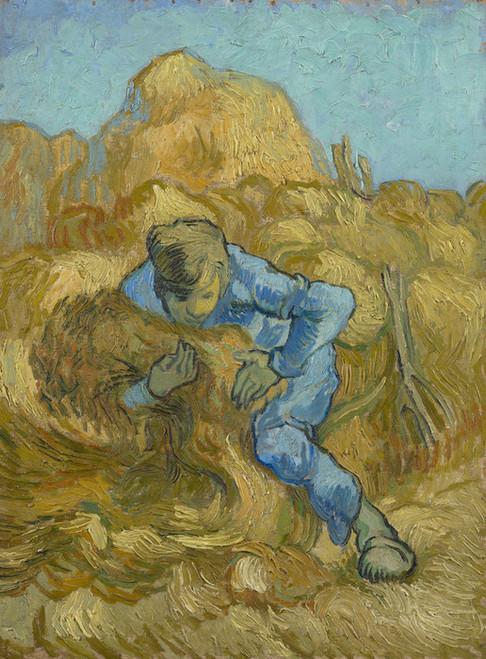 Art Prints of The Sheaf Binder (after Millet) by Vincent Van Gogh
