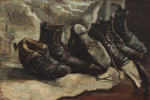 Art Prints of Three Pairs of Shoes by Vincent Van Gogh