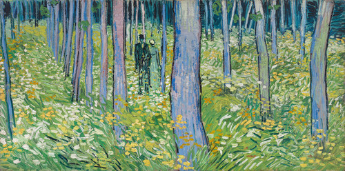 Art Prints of Undergrowth with Two Figures by Vincent Van Gogh
