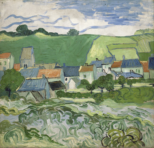Art Prints of View of Auvers by Vincent Van Gogh