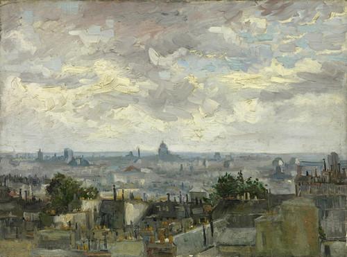 Art Prints of View of Paris by Vincent Van Gogh
