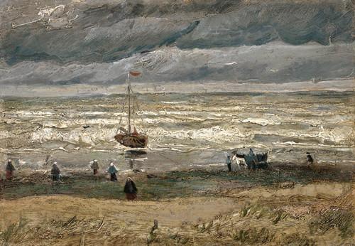 Art Prints of View of the Sea at Scheveningen by Vincent Van Gogh