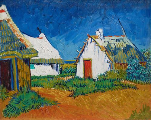 Art Prints of White Cottages at Saintes Maries by Vincent Van Gogh