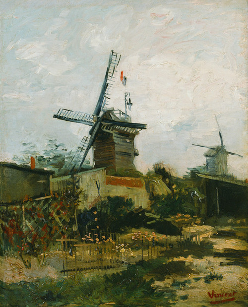 Art Prints of Windmills on Montmartre by Vincent Van Gogh