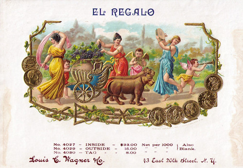 Art Prints of El Regalo Cigars, Vintage Cigar Label