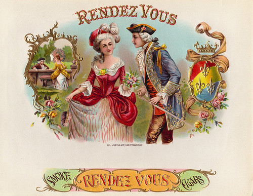 Art Prints of Rendezvous Cigars, Vintage Cigar Label