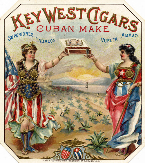 Art Prints of Key West Cigars, Vintage Cigar Label