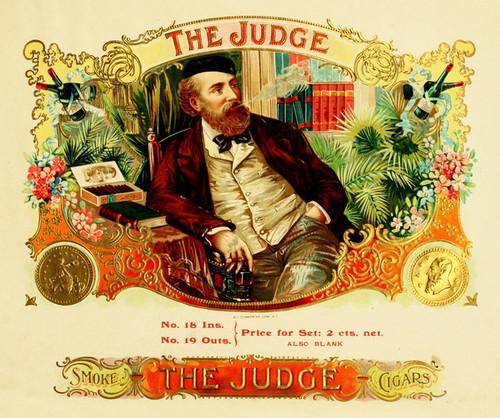 Art Prints of The Judge Cigars, Vintage Cigar Label