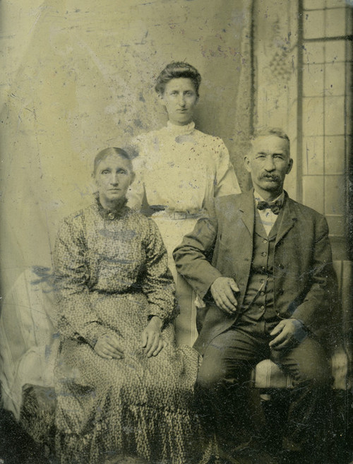 Art Prints of Family Portrait, Tintype 8, Vintage Tintype
