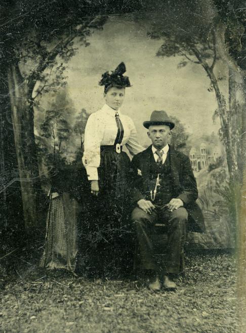 Art Prints of Jane and Joe Doe, Tintype 6, Vintage Tintype
