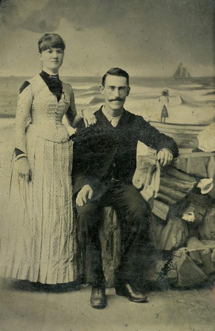 Art Prints of The Happy Couple, Tintype 9, Vintage Tintype