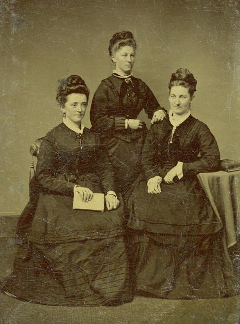 Art Prints of The Three Sisters, Tintype 1, Vintage Tintype